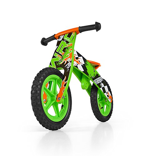 Milly Mally Flip Balance Legno Bike Verde