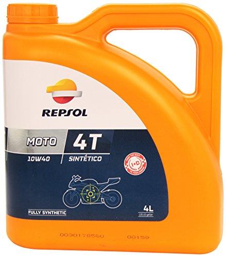 Aceite moto REPSOL - sintetico 4T 10W40 4L 4 Litros