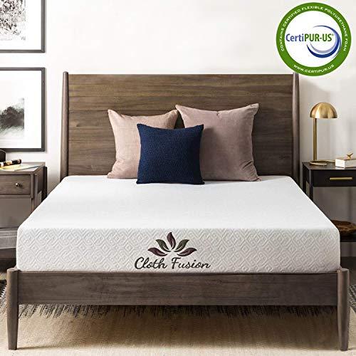 "Cloth Fusion Fruton 2nd Gen 6 inch Gel Memory Foam Mattress for Queen Size Bed (72"" x 60"" x 6"", White)"
