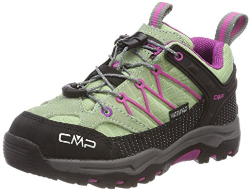 CMP Rigel, Scarpe da Arrampicata Basse Unisex-Bambini, Verde (Linfa-Hot Pink), 34 EU