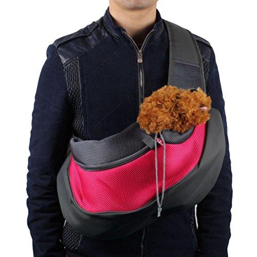 DDLBiz® Haustier Hund Katze Puppy Carrier Mesh Travel Tote Umhängetasche Sling Rucksack