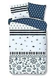 Good Morning! Bettwäsche Ricardo blau 1 Bettbezug 135x200 cm + 1 Kissenbezug 80x80 cm