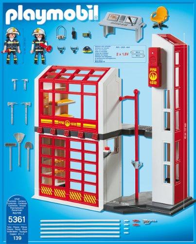 PLAYMOBIL 5361 – Feuerwehrstation mit Alarm - 3