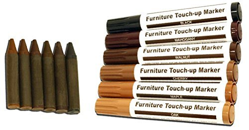Total Furniture Repair System - 12Pc Scratch Restore & Repair Touch-Up Kit - Felt Tip Markers, Wax...