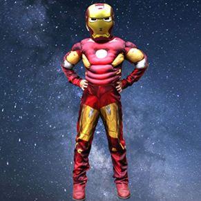 YUNMO Equipo de diversión Marvel Avengers Assemble Iron Man, un clásico Traje Infantil (Tres Colores, Tres tamaños) (Color : A, Size : L)