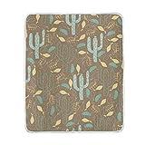 Manta para Silla Patrón de Cactus y Plantas Tropicales