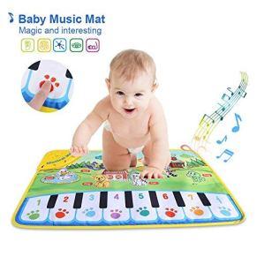 Alfombrilla para piano SOULONG con diseño de teclado musical, regalo para la educación temprana del bebé