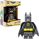 Despertador infantil con figurita de Batman de BATMAN: LA LEGO PELÍCULA; negro/amarillo; plástico; 24 cm de altura; Pantalla LCD; chico chica; oficial