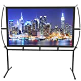 Screen Home Cinema 233X139Cm (100 '') 16: 9 Mobile Projector Screen Easy Installation And Operation Suitable For Home Cinema And Outdoor Projection Screen