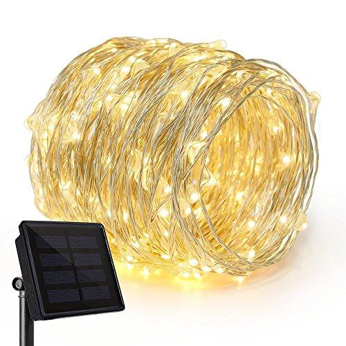 Rophie Catena Luminosa Solare Stringa Luci 200 LED 8 Modi 22m Luci Solari Giardino Impermeabile Luci...