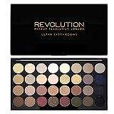 Maquillaje Revolución Resplandece y mate Nudes Ultra 32eyeshadows Flawless paleta