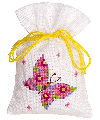 Vervaco PP bolsa mariposas juego de punto de cruz, Multi-color