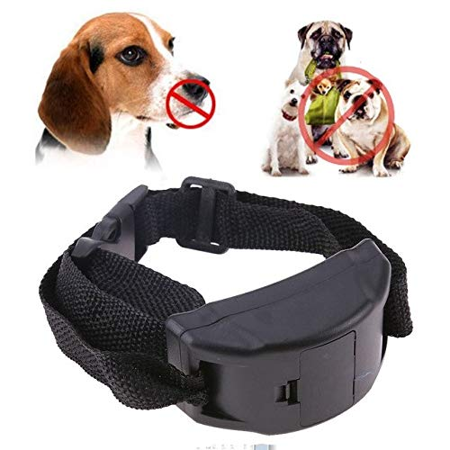 Petsdelite Black: Electricial Dog Anti Barking Collar Training Collars Vibration Shock Collar for Small Medium Large Dogs Pets Col