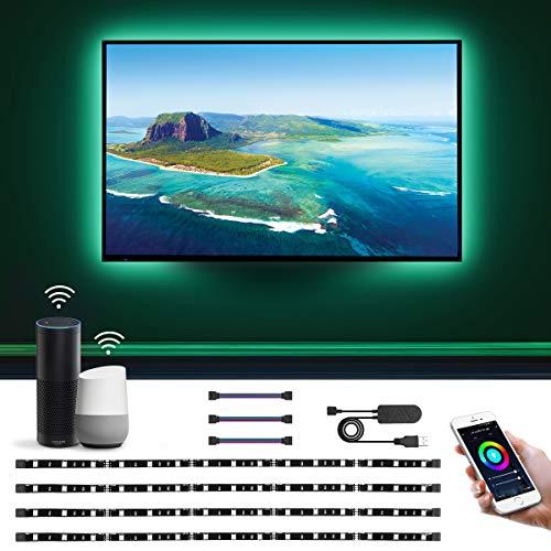 LE Lampux Striscia LED Retroilluminazione TV 2M 5050 SMD, Strisce WiFi Smart Controllo Vocale e App,...