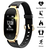 Fitness Tracker Donne Cardiofrequenzimetri Conta Passi IP67 Impermeabile Podometro Bracciale Bluetooth con Monitor del Sonno per Smartphone Android & iOS, iPhone, Samsung da WOWGO