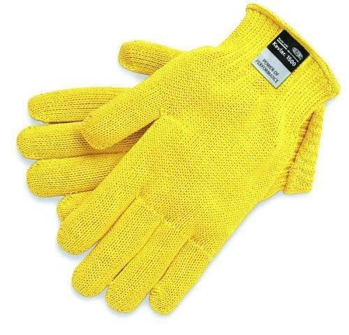 MCR Safety 9375L Kevlar, pesante, 7 mm, colore: giallo, Guanti grandi da MCR Safety