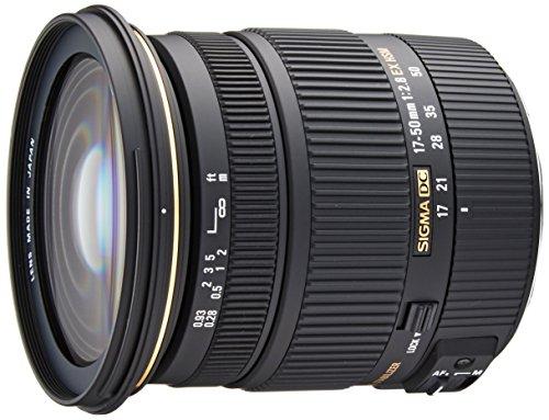 Sigma - Objetivo 17-50 mm f/2,8 EX DC OS HSM (rosca para filtro de 77 mm) para cámaras digitales SLR de Canon con sensores APS-C), color negro