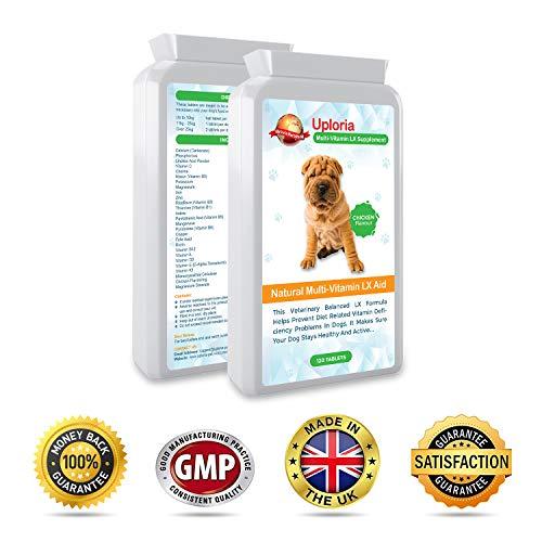 Preparado Multivitamínico Para Perros - 120 Comprimidos Masticables Con Sabor A Pollo | Estas Vitaminas Y Suplementos Para Perros Le Aseguran De Que Su Perro Se Mantenga Sano Y Activo