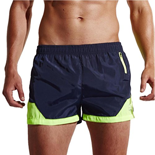 LILICAT Bañadores de Natación Hombre, Pantalones Corto de Playa de Secado Rápido, Pantalones Cortos Boxers Deportivos de Natación Running Surf, Ropa Trajes de Baño Hombre (M, ☀ Armada - LI71)