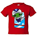 Camiseta niño parodia de Dragon Ball Bola de Dragón Piccolo Jr Kawaii - Rojo, 7-8 años
