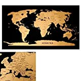 Rubbelweltkarte Weltkarte zum frei rubbeln Scratch off world map Rubbelkarte Landkarte
