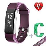 KG Physio Premium Fitness Watch Bluetooth Heart Rate Monitor, Pedometer, Sleep Tracker IP67 Waterproof Android & IOS