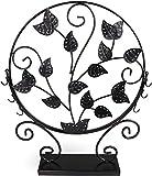 Portagioie in albero Design–Nero 40x 33x 7cm–Orecchini Gioielli Deposito di titolare presentazione–Grins Card