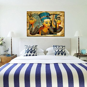Arte de la Pared de la Lona,   Antiguo Egipcio Mural Completo de la Pintura al óleo 40 * 60Cm Egipto Pintura de la Pared Oil-Picture Completo de la Figura Pharaoh Home Decor 8