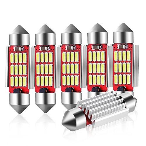 Audew 6 x 36mm C5W LED Lampadine Auto 10 4014SMD DC 12V - Per Porta/Lettura/Soffitto/Interior Lampada LED - Auto Lampadina LED Luce Targa Illuminazione Interna Bianco Canbus No Error