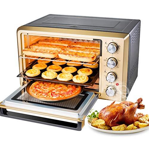 JINRU Tostapane Forno, Acciaio Inox Multifunzione con Timer-Toast-Cottura-impostazione Barbecue,...
