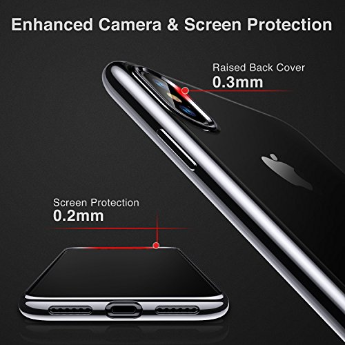 ESR Cover iPhone XS, Cover iPhone X, Custodia Gel Trasparente Morbida Silicone Sottile TPU [Ultra Leggera e Chiaro] con Paraurti Placcati per Apple iPhone XS/X da 5.8 Pollici