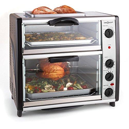 oneConcept All-You-Can-Eat • forno • forno elettrico • piastra per griglia sulla parte...