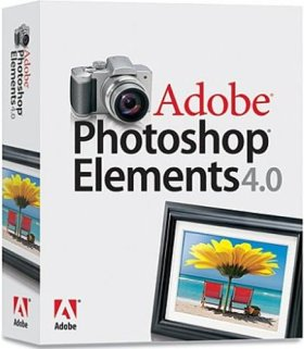Adobe Photoshop Elements - (version 4.0 ) - ensemble complet - 1 utilisateur - CD - Mac - International English