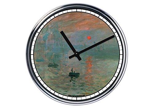 Orologio da partete in acciaio Claude Monet
