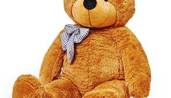 609dc860be Lumaland gigante XXL teddy Orso Marrone 120 cm peluche orsetto peluche