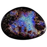 12.67 ct Fancy Shape (20 x 15 mm) Play of Colors Australian Koroit Boulder Opal Natural Loose Gemstone