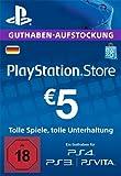 PSN Card-Aufstockung | 5 EUR | PS4, PS3, PS Vita Playstation Network Download Code - deutsches Konto