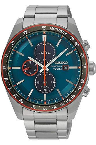 Seiko Orologio Cronografo Solare Uomo con Cinturino in Acciaio Inox SSC717P1