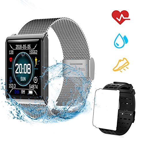 OOPPEN Smart Watch Impermeabile IP67 Activity Tracker Fitness cardiofrequenzimetro Pedometro Sonno...