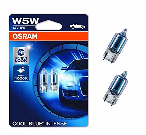 Osram, Cool Blue Intense W5W, luce di posizione o illuminazione targa CBI, colore blu freddo
