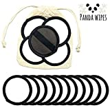 Panda Wipes | Reusable Bamboo Cotton Face Pads | Soft Natural Makeup Remover Wipes | Sensitive Skin | Eco Friendly | Free Laundry Bag | Machine Washable (16 pack)