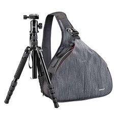 Mantona 20368 - Trípode portátil (incluye mochila de transporte), negro