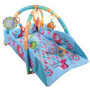K9CK XXL Manta Gimnasio Bebes Alfombra para Recién Nacido Manta de Juegos Infantil Gimnasio de Actividades, 115 x 98 x 50cm