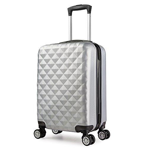 Trolley valigia 55cm bagaglio a mano ABS 40L 2.4kg super leggera 6 ruote rigida ¡