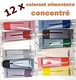 colorant alimentaire liquide - Chaque couleur poids net 12 x 15ml