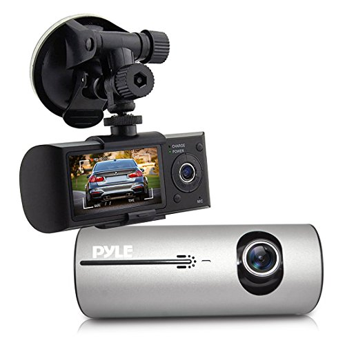Pyle Dvr Dash Cam System - Dual Camera Car Video Recording with GPS Navigation Logger, 2.7 -Inch Display Pldvrcamg37