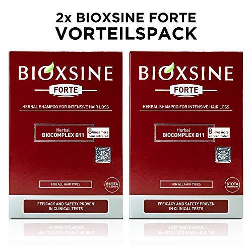 2 x Forte Shampoo bei starkem Haarausfall- für Frau und Mann | mit pflanzlichem Haarwaschmittel das Haarwuchs beschleunigen | schnelles Haar-wachstum | Haarwuchs-mittel 300 ml | von Bioxsine (2x300)