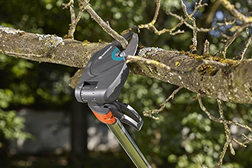 Comes with an adjustable cutting head with a maximum reach of 200-degrees for cutting awkward branches.