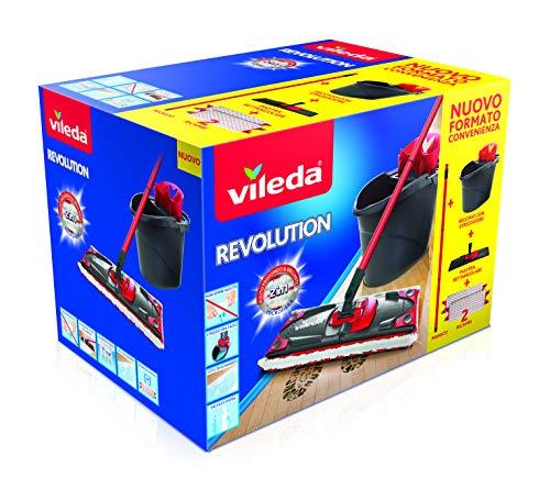 Vileda Revolution Box Sistema Lavapavimenti, Set con Strizzatore/Secchio/Piastra Rettangolare,...