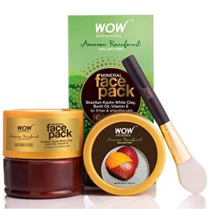 WOW Amazon Skin Science Rainforest Collection - Mineral Face Pack with Brazilian Kaolin White Clay, Buriti Oil - No Parabens, Sulphate, Silicones and Color, 200 ml 10